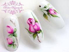 Este posibil ca imaginea să conţină: 1 persoană, floare Rose Nail Art, Floral Nail Art, Rose Nails, Gel Nail Art, Flower Nails, Acrylic Nails, Bling Nail Art, Bling Nails, Stiletto Nails