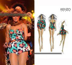 Beyonce in Kenzo Paris During her Mrs. Carter Tour #inspiration #beyonce #mrscarter #music #love #fashion