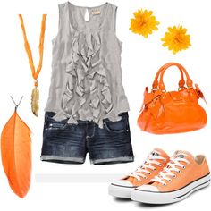 Summer oranges :).....I would change the shoes!!