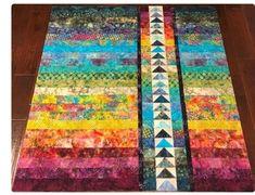 Batik Quilts, Jellyroll Quilts, Scrappy Quilts, Easy Quilts, Jelly Roll Quilt Patterns, Machine Quilting Patterns, Quilt Patterns Free, Quilting Projects, Quilting Designs