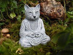 Méditer la Statue de chat Statue de chat Yoga Statue de chat
