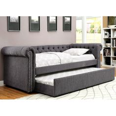 A&J Homes Studio Leona Daybed with Trundle Color: Gray