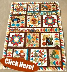 Sonoran Trail Sew Along- Final Block and Finishing! Last free pattern available until October 31 Make something to cherish! Sonoran Trail Sew Al Quilt Patterns Free, Applique Patterns, Pattern Blocks, Print Patterns, Block Patterns, Free Pattern, Pattern Print, Patchwork Patterns, Mosaics