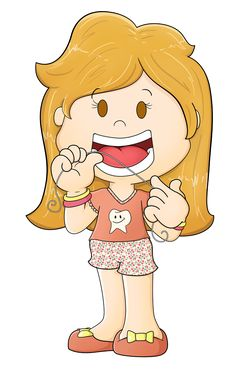 Illustration - Kids Clock oral Hygiene by Douglas Azevedo Duarte, via Behance