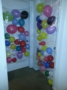 Balloon avalanche we did for my two roomates birthday! So fun!!!