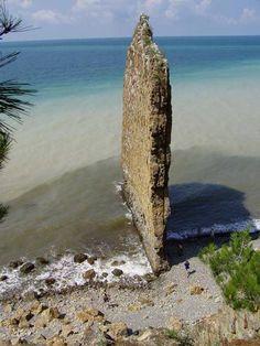 Sail Rock is a natural sandstone monolith located on the shore of the Black Sea, in Krasnodar Krai, Russia.