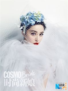 - Fan Bingbing poses for the cover of COSMO Bride magazine -