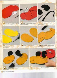 Moldes mickey mouse en foamy