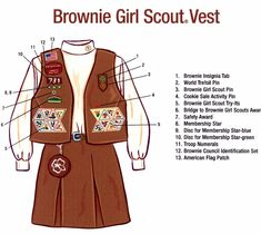 Brownie Girl Scout Vest