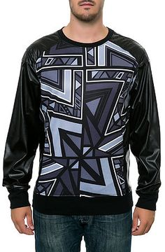 Square Zero Light Fleece with Aztec Allover Pattern Print
