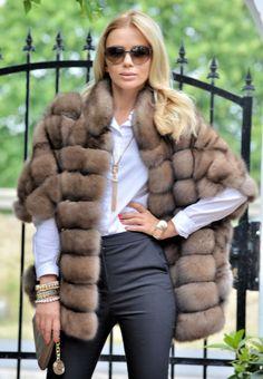SABLE FURS - exclusive russian sable fur coat -  fantastic jacket - furs outlet