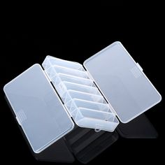 Double Sided 14 Compartments Fishing Lure Bait Box  Fishing Tackle Boxes Case 19*8.5*3.1cm