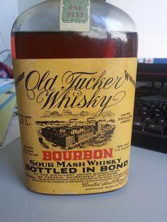 Old Tucker Whisky Bourbon Sour Mash Bottled In Bond United Distillers Limited, Vancouver 1915.