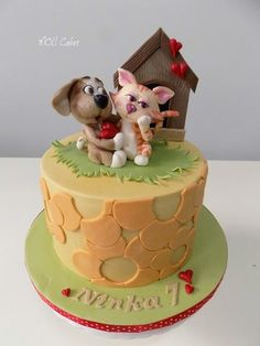 Doggie and Kitty by MOLI Cakes