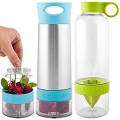 Zing Anything has Aqua, Citrus, Vodka, ad Salad Zingers - to easily infuse in your bottle!