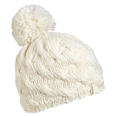 Wave on Wave Women's Wool Pom Beanie Turtle Fur, White Wisteria, Laid Back Style, Packing Light, Wool Fabric, Hat Sizes, Knit Beanie, Merino Wool, Hand Knitting