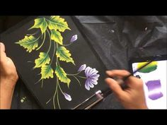 One Stroke Painting Composition ~ Video Demonstration