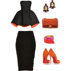 A fashion look from August 2015 featuring Parlor dresses, Christian Louboutin pumps and Chanel handbags. Browse and shop related looks.