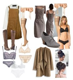 """""""Titanic third class style"""" by gemma-mawdsley ❤ liked on Polyvore featuring Brandon Maxwell, Venus, Falke, Calvin Klein Underwear, Dr. Scholl's, Wolford, La Perla, George, Chicwish and Only Hearts"""