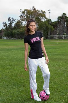 Nina Dobrev punts for Pumas Project Pink