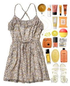 """Sunny glow"" by crazydirectionergirl ❤ liked on Polyvore featuring Hollister Co., L:A Bruket, philosophy, Burt's Bees, ASOS, NARS Cosmetics, Chanel, Aesop, Korres and Yes To"