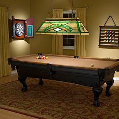 Billiard bonus room? With a Tiffany light? YES!