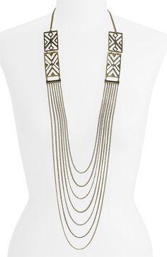 Stepan & Co. Draped Chain Art Deco Necklace $22.00