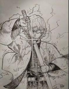 Naruto Drawings, Anime Drawings Sketches, Anime Sketch, Demon Slayer, Slayer Anime, Anime Character Drawing, Character Art, Dark Art Illustrations, Anime Poses Reference