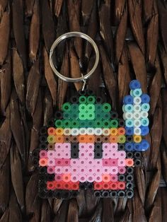 Perler Bead Sword Kirby Keychain by LuckyLukaiDesigns on Etsy