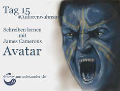 Tag 15: Schreiben lernen mit James Camerons Avatar von Mira Alexander, http://www.miraalexander.de , #Autorenwahnsinn 2017 . Digitale Zeichnung eines Avatars.