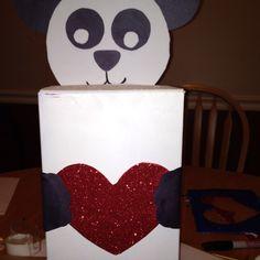 Panda Valentine Mailbox. Cole Picked This Guy Out For Her Mailbox For Her  Class Valentine