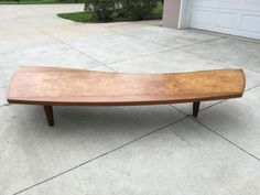 Vintage-Original-George-Nakashima-for-Widdicomb-Sundra-Burl-COFFEE-TABLE-ROSE-W