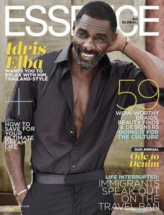 Idris Elba covers Essence magazine for August 2017. #celebrity #celebritynews #essencemagazine #idriselba #fabfashionfix