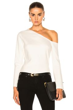 Image 1 of L'AGENCE Jenny Cold Shoulder Top in Magnolia