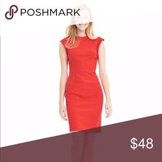 Banana Republic Dress Excellent condition   Coral sleeveless dress  Fit is very flattering Banana Republic Dresses