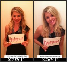 """haha before  and after """"mug shots"""" at bachelorette party so funny"""