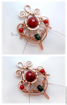 "Master class: Earrings ""drop flower honey."" Variation in red - Fair Masters - handmade, handmade"