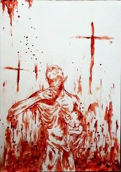 """Betrayed"" by Maxime Taccardi using his own blood"