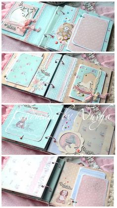 Mini Album Scrapbook, Scrapbook Bebe, Scrapbook Background, Baby Boy Scrapbook, Photo Album Scrapbooking, Scrapbook Cards, Mini Albums, Baby Photo Books, Baby Record Book