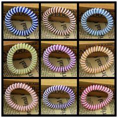 10 Colores Eligen 5 CM Capas Dobles Cable Telefónico Titulares de Pelo de Goma 2015 Nuevas Muchachas de La Manera de Las Mujeres Elásticos Lazo de las encías