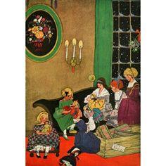 Stories 1922 Six Exquisite dolls Canvas Art - Edna Cooke (18 x 24)
