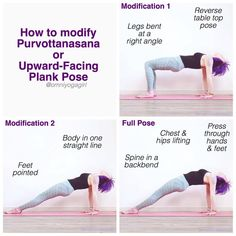 🌟 #AshtangaMondays 🌟 How to effectively modify Purvottanasana or Upward-Facing Plank pose - For all variations, keep the abdomen strong &…