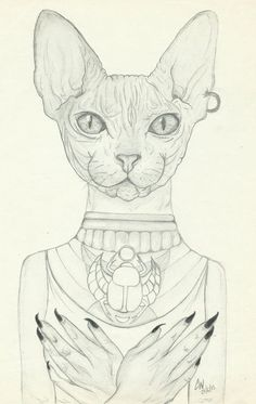 Egyptian Goddess Bastet also spelled Baast, Ubaste, and Baset. First anthro I've ever done and first cat-related drawing. Bastet Tattoo, Pagan Art, Bad Cats, Architecture Tattoo, Egyptian Goddess, Cat Doll, Sphynx, Cat Drawing, Cat Art