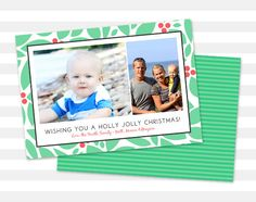 Modern Christmas Card  Holiday Card  Christmas by paperheartprints