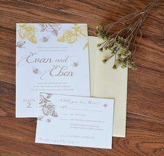plum mountain themed wedding invitations from etsy https www etsy