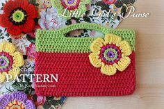 Crochet Pattern  Little Girl's Purse Pattern No. 027  by ZoomYummy