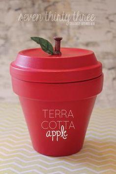 BACK TO SCHOOL: Terra Cotta Apple Tutorial - seven thirty three