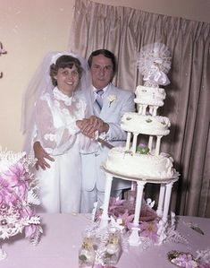 Randall - Topham Wedding | Allen Randall + Joe Topham Weddin… | Flickr 1970s Wedding, Vintage Wedding Photos, Vintage Weddings, Wedding Pictures, Wedding Attire, Wedding Gowns, Wedding Cake Toppers, Wedding Cakes, Vintage Gowns
