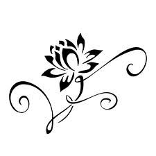 I'm thinking this to incorporate with my 'm' tattoo lotus flower line drawing - Google Search