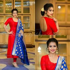 Makeup for my munchkin For the audio launch of her most awaited movie starring and Silk Kurti Designs, Half Saree Designs, Fancy Blouse Designs, Kurta Designs Women, Dress Neck Designs, Salwar Designs, Kurti Designs Party Wear, Churidhar Designs, Dress Indian Style